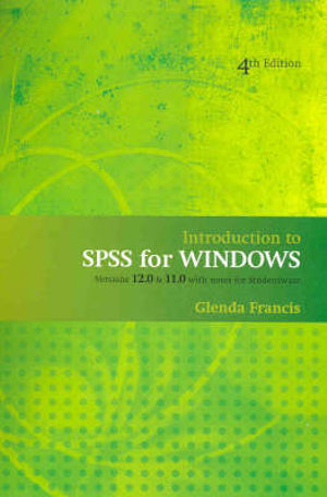 Cover of Introduction to SPSS for Windows
