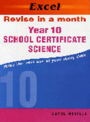 Cover of Excel RIAM School Cert Science Yr 10