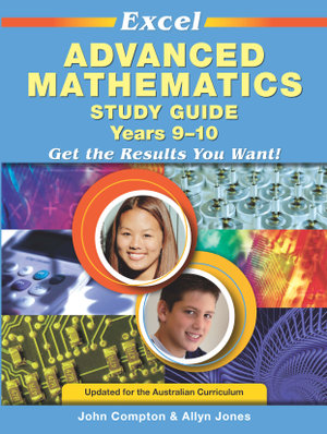 Cover of Excel Advanced Mathematics Study Guide Years 9-10