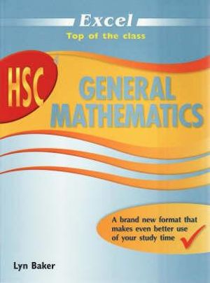 Cover of HSC GENERAL MATHEMATICS New Ed