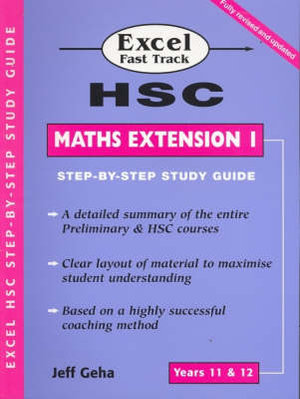 Cover of Excel HSC Fast Trk Stp-by-Stp Maths Ext1