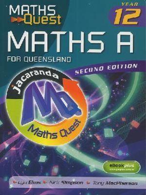 Cover of Maths Quest Maths A Year 12