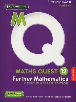 Cover of Maths Quest 12 Further Mathematics