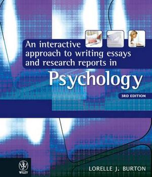 Cover of Interactive Approach to Writing Essays and Research Reports in Psychology 3E