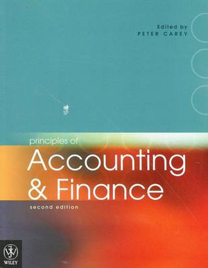 Cover of Principles of Accounting and Finance 2E