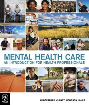 Cover of Mental Health Care:an Introduction for Health Professionals 1E