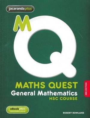 Cover of Maths Quest General Mathematics