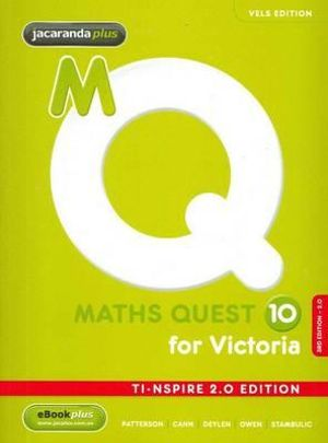 Cover of Maths Quest 10 for Victoria
