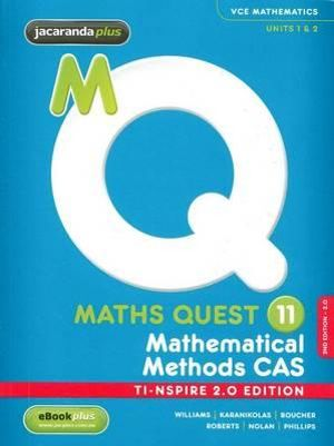 Cover of Maths Quest 11 Mathematical Methods