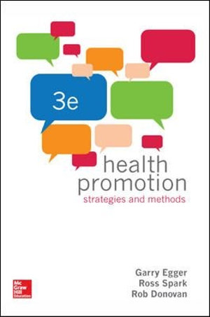 Cover of Health Promotion Strategies and Methods