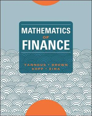 Cover of Mathematics of Finance