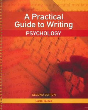 Cover of A Practical Guide to Writing: Psychology