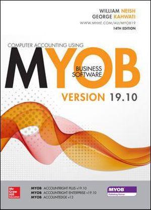 Cover of Computer Accounting Using MYOB V.19.10