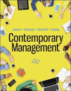Cover of Contemporary Management