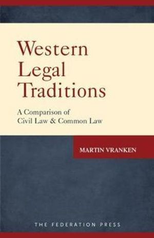 Cover of Western Legal Traditions
