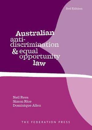 Cover of Australian Anti-Discrimination Law 3rd Edition