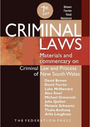 Cover of Criminal Laws, 7th Edition