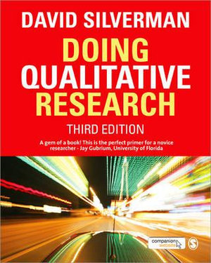Cover of Doing Qualitative Research 3ed