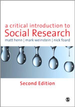 Cover of A Critical Introduction to Social Research