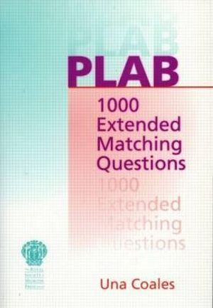 Cover of PLAB: 1000 Extended Matching Questions