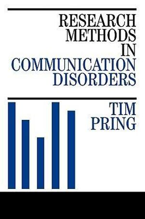 Cover of Research Methods in Communication Disorders