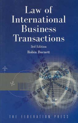 Cover of Law of International Business Transactions
