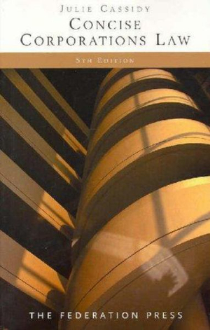 Cover of Concise Corporations Law