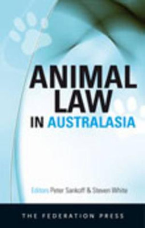 Cover of Animal Law in Australasia