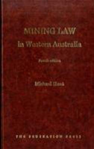 Cover of Mining Law in Western Australia