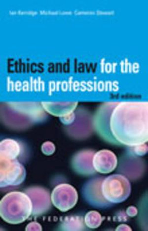 Cover of Ethics and Law for the Health Professions