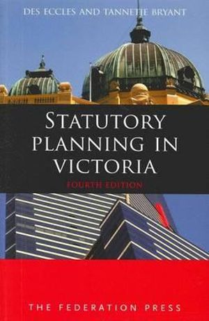 Cover of Statutory Planning in Victoria