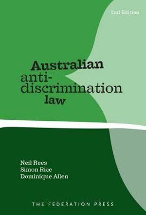 Cover of Australian Anti-discrimination Law