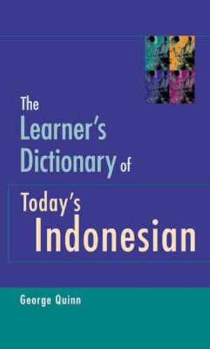 Cover of The Learner's Dictionary of Today's Indonesian