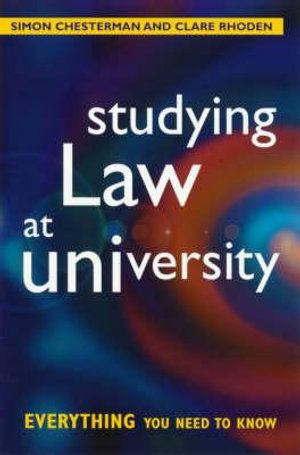 Cover of Studying Law at University