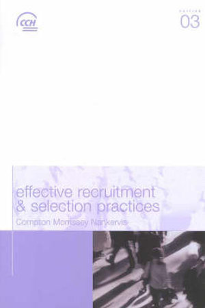 Cover of Effective Recruitment and Selection Practices