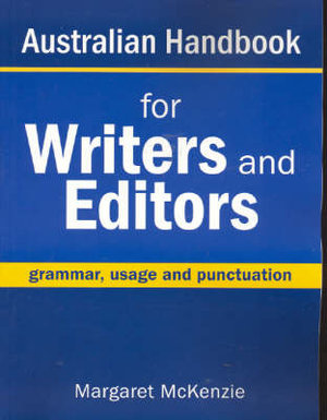 Cover of Australian Handbook for Writers and Editors