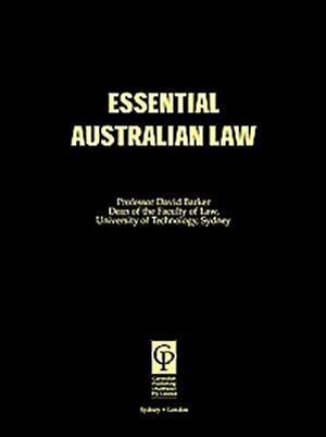 Cover of Essential Australian Law