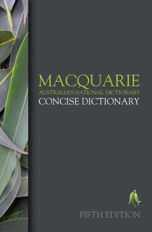 Cover of Macquarie Concise Dictionary
