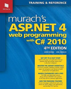Cover of Murach's ASP.NET 4 Web Programming with C♯ 2010