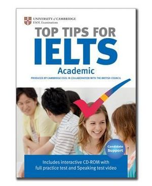 Cover of Top Tips for IELTS Academic Paperback with CD-ROM
