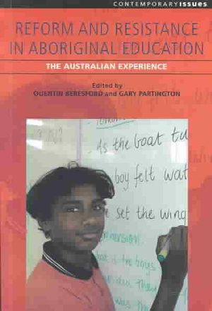 Cover of Reform & Resistance in Aboriginal Education