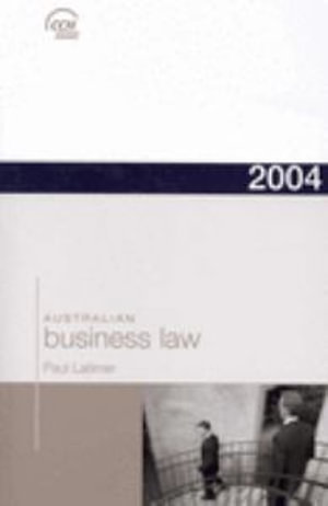 Cover of Two Thousand and Four Australian Business Law