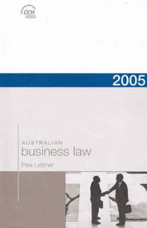 Cover of Two Thousand and Five Australian Business Law