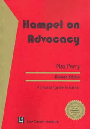 Cover of Hampel on Advocacy