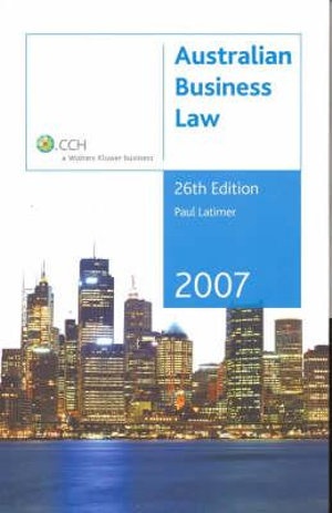 Cover of Australian Business Law 2007