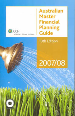 Cover of 2007/08 Australian Master Financial Planning Guide