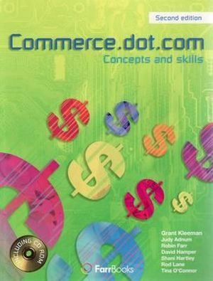 Cover of Commerce.dot.com: Homework book