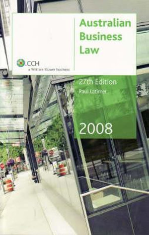 Cover of 2008 Australian Business Law