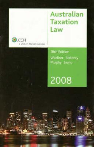 Cover of Australian Taxation Law