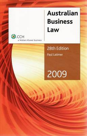 Cover of Two Thousand and Nine Australian Business Law